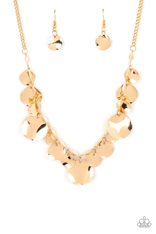 GLISTEN Closely - Gold - Paparazzi Necklace Image
