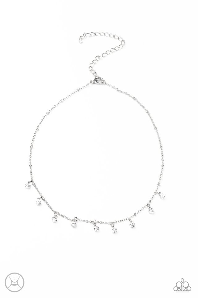 Dainty Diva - White - Paparazzi Necklace Image