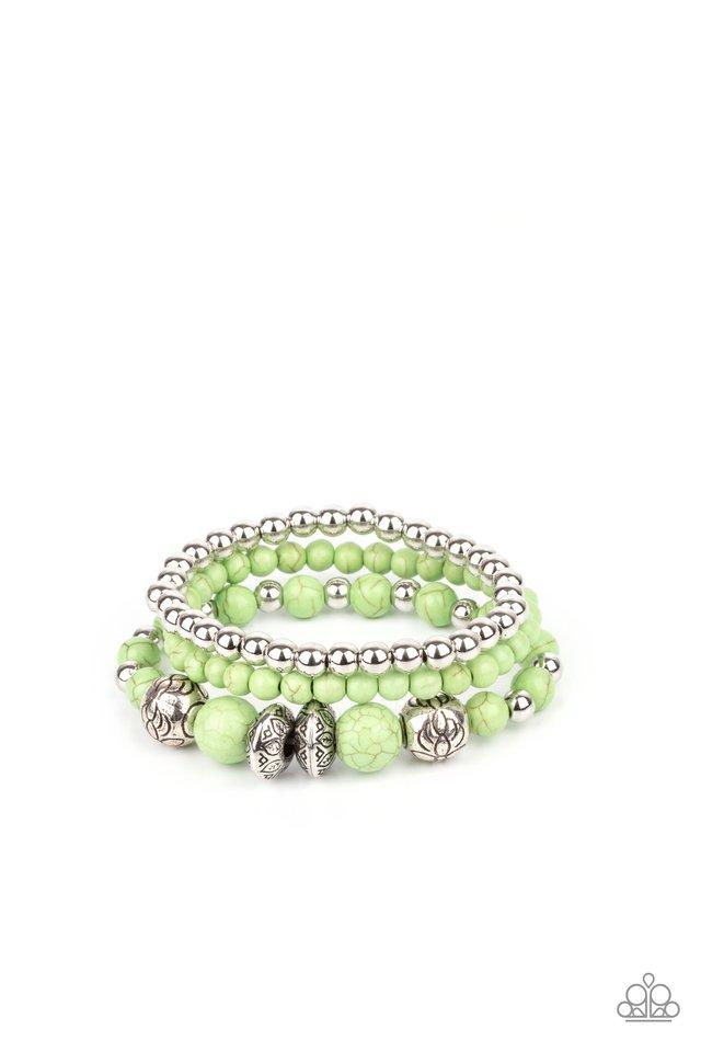 Desert Blossom - Green - Paparazzi Bracelet Image