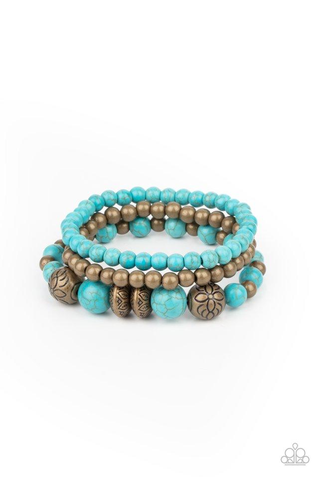 Desert Blossom - Brass - Paparazzi Bracelet Image