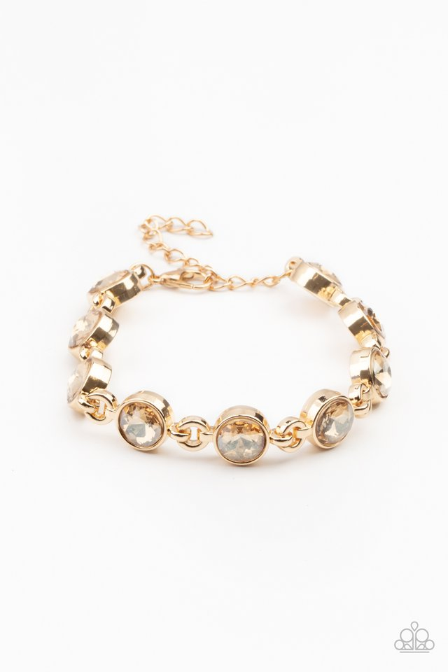 First In Fashion Show - Gold - Paparazzi Bracelet Image