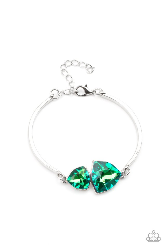 Deep Space Shimmer - Green - Paparazzi Bracelet Image