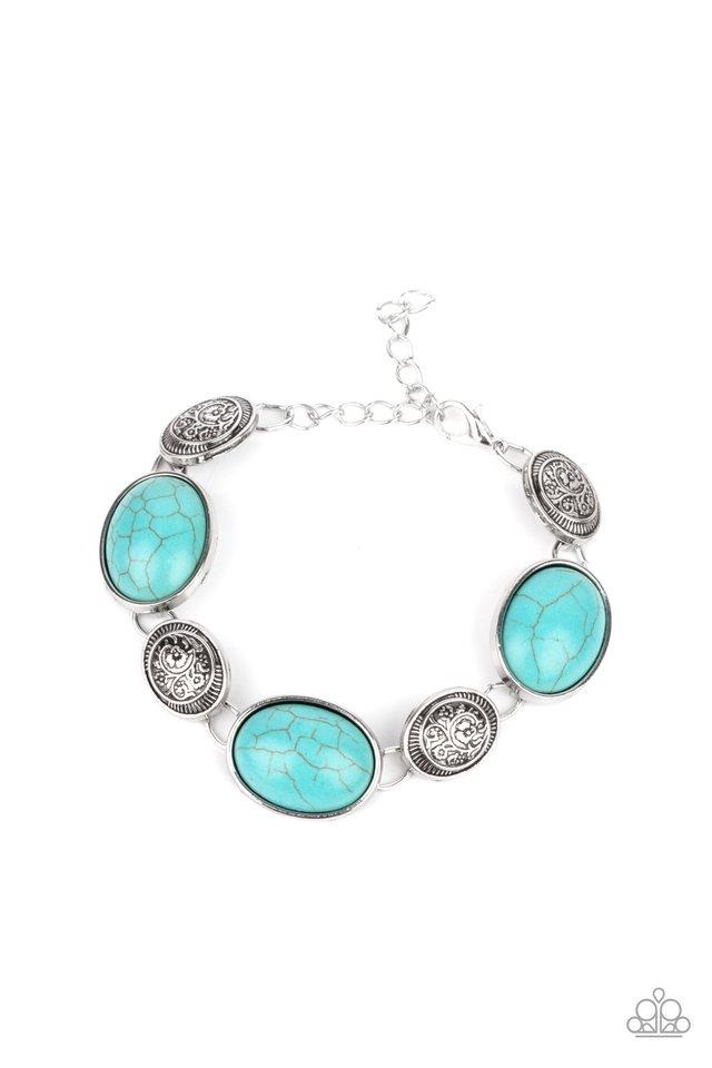 Cactus Country - Blue - Paparazzi Bracelet Image
