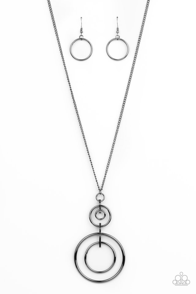 The Inner Workings - Black - Paparazzi Necklace Image