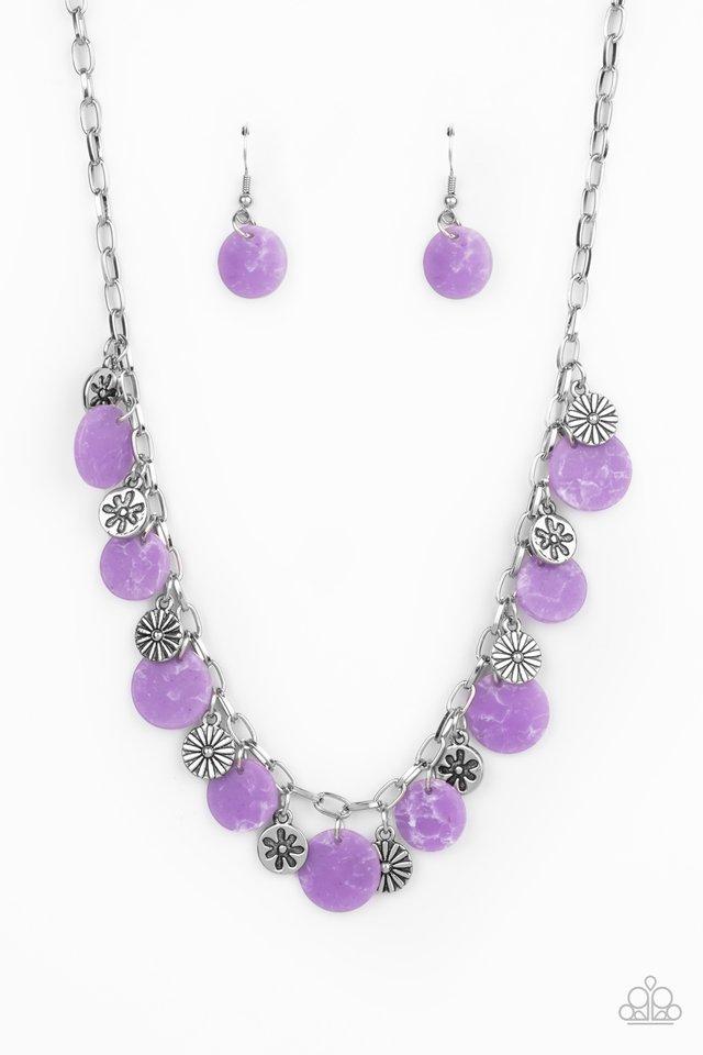 Flower Powered - Purple - Paparazzi Necklace Image