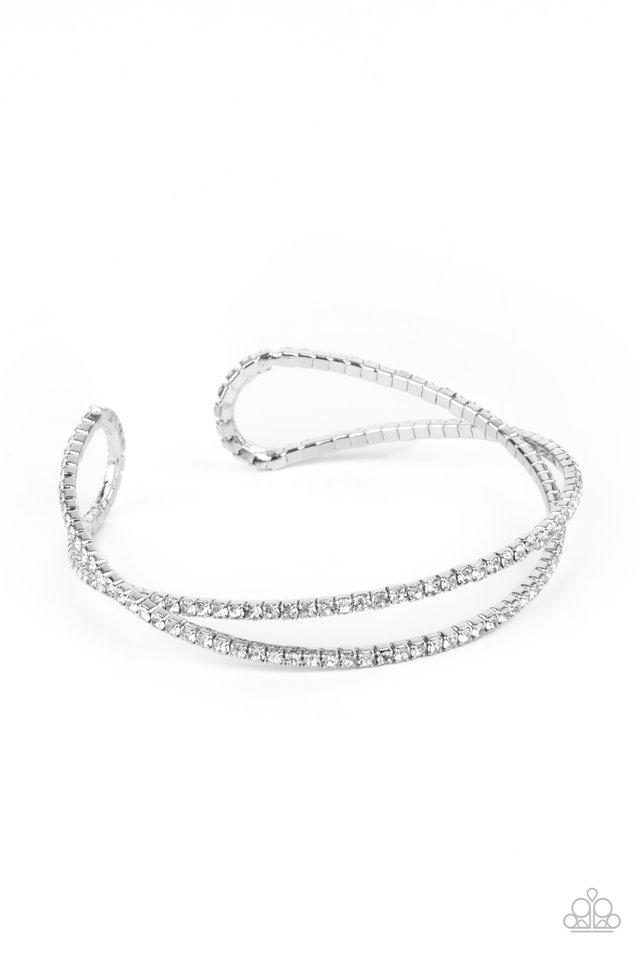 Plus One Status - White - Paparazzi Bracelet Image