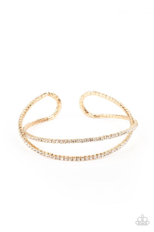 Plus One Status - Gold - Paparazzi Bracelet Image