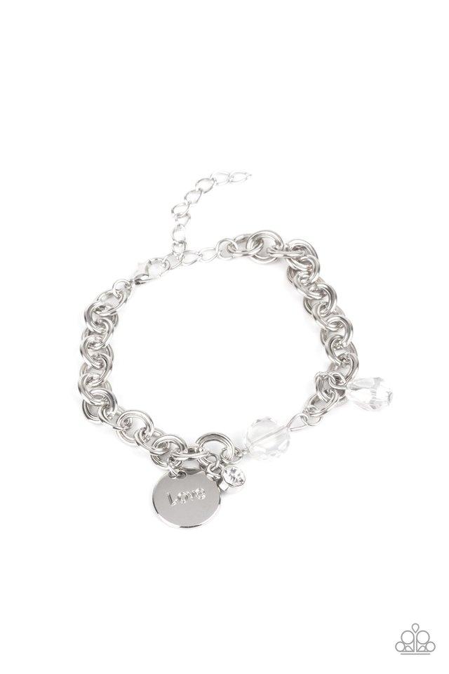 Lovable Luster - White - Paparazzi Bracelet Image