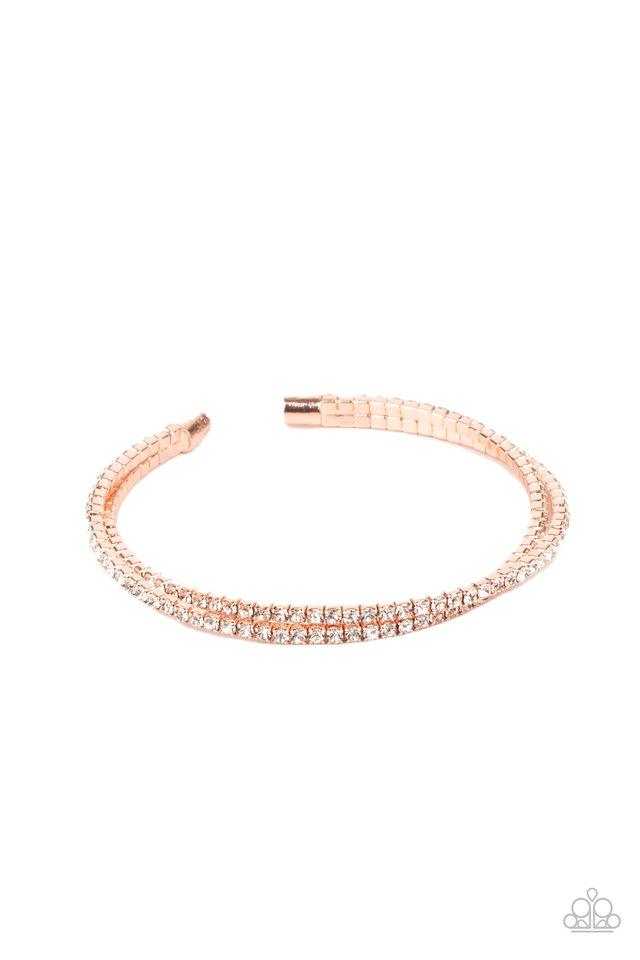 Iridescently Intertwined - Copper - Paparazzi Bracelet Image