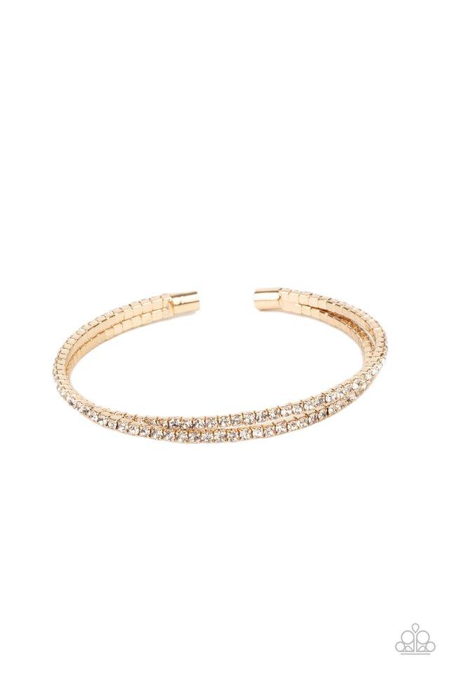 Iridescently Intertwined - Gold - Paparazzi Necklace Image