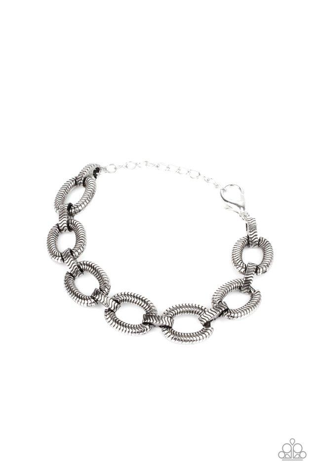 Industrial Amazon - Silver - Paparazzi Bracelet Image