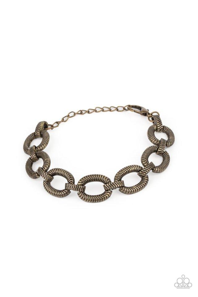 Industrial Amazon - Brass - Paparazzi Bracelet Image