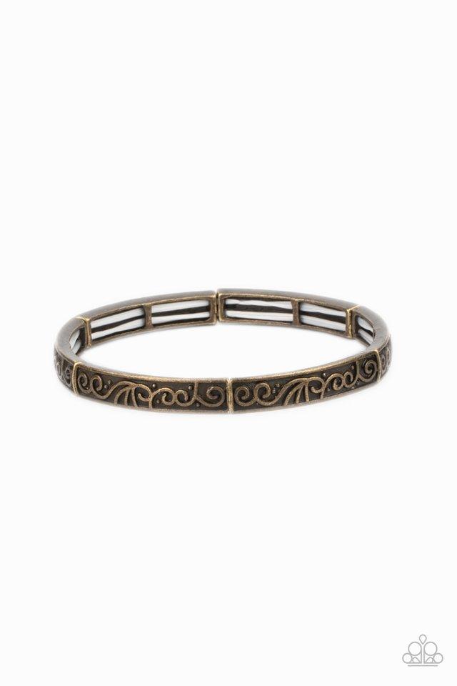 Precisely Petite - Brass - Paparazzi Bracelet Image
