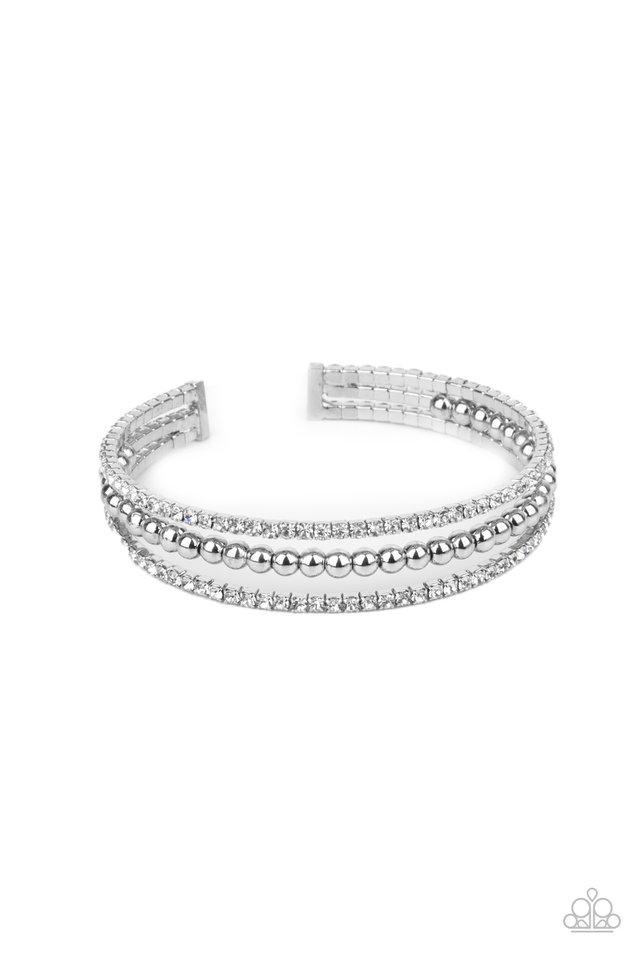 High-End Eye Candy - White - Paparazzi Bracelet Image