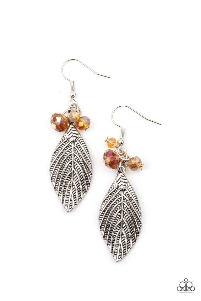 LEAF It To Fate - Brown - Paparazzi Earring Image