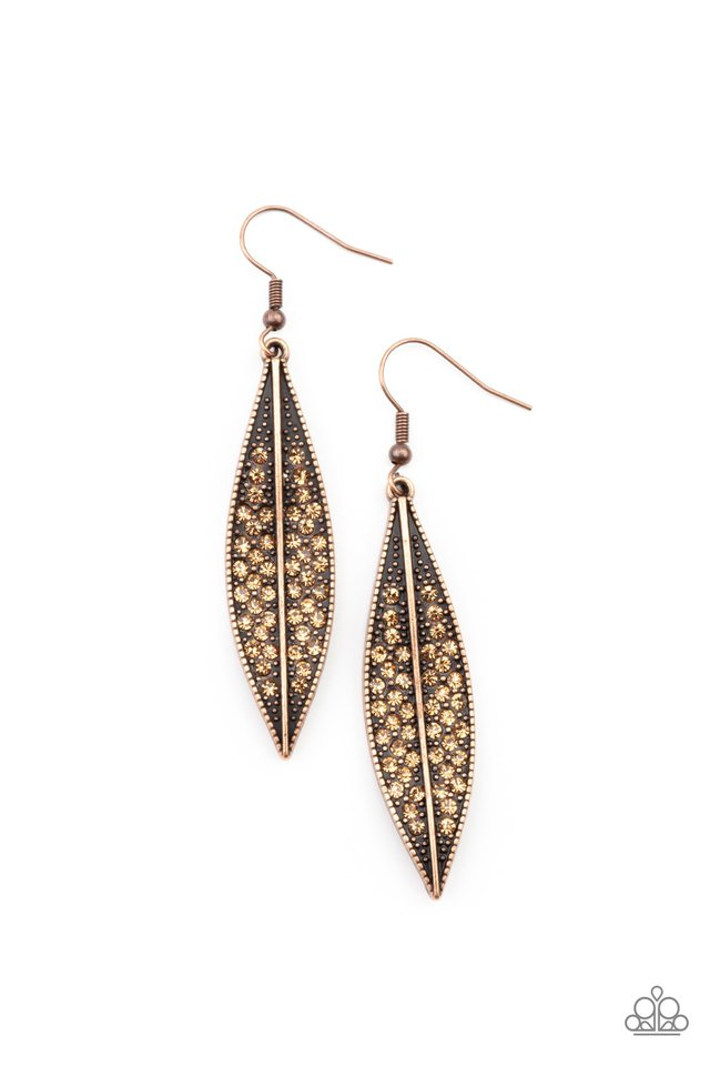 Hearty Harvest - Copper - Paparazzi Earring Image