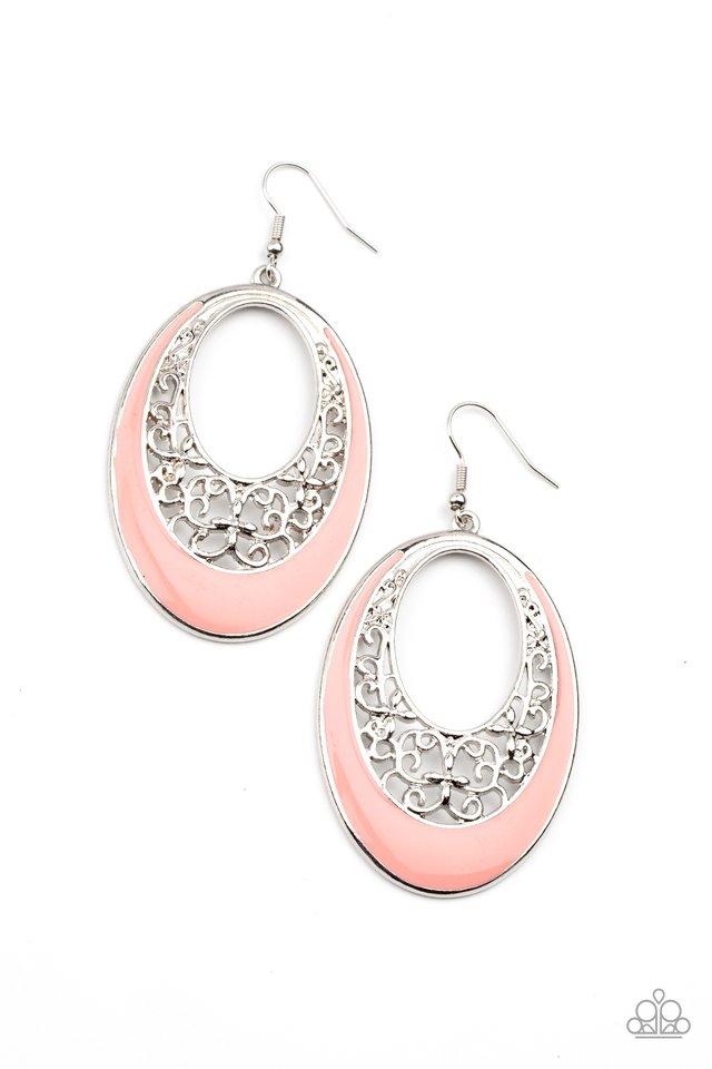 Orchard Bliss - Orange - Paparazzi Earring Image