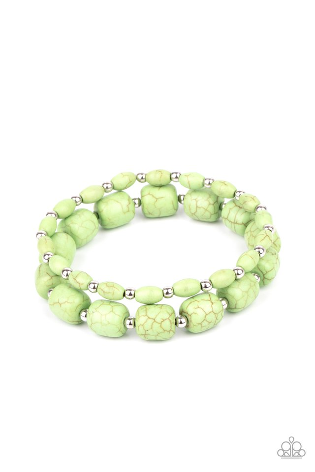 Colorfully Country - Green - Paparazzi Bracelet Image