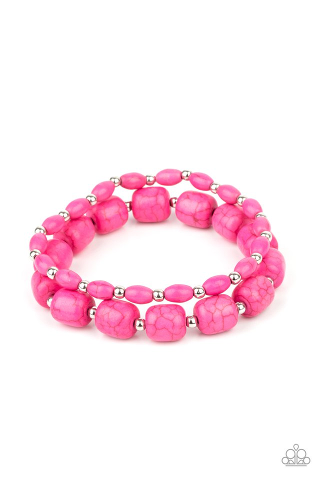 Colorfully Country - Pink - Paparazzi Bracelet Image