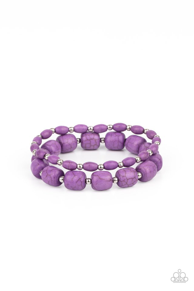 Colorfully Country - Purple - Paparazzi Bracelet Image