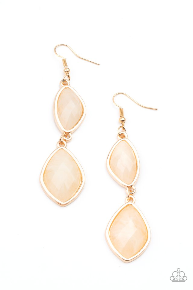 The Oracle Has Spoken - Gold - Paparazzi Earring Image