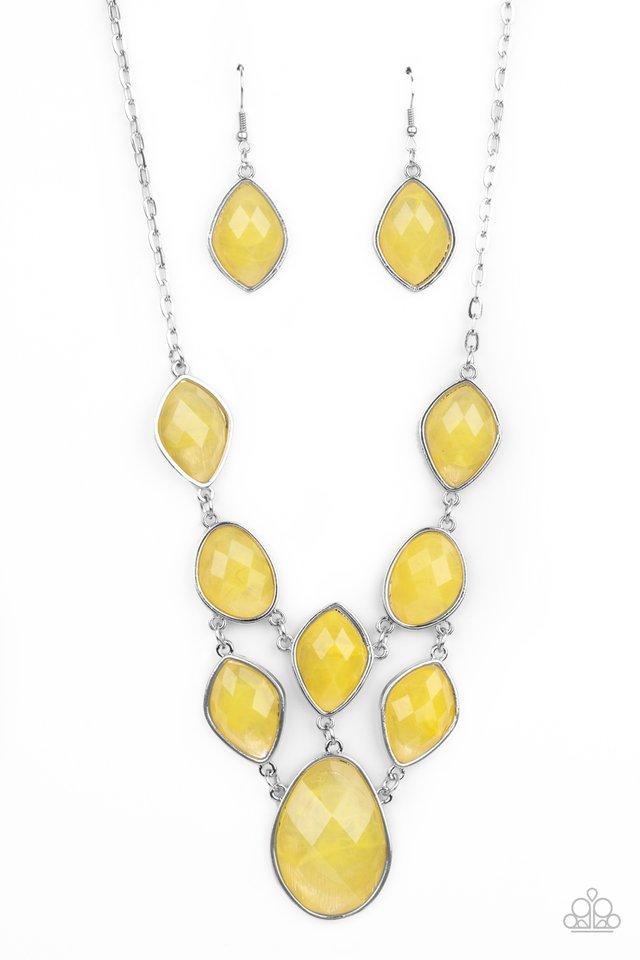 Opulently Oracle - Yellow - Paparazzi Necklace Image