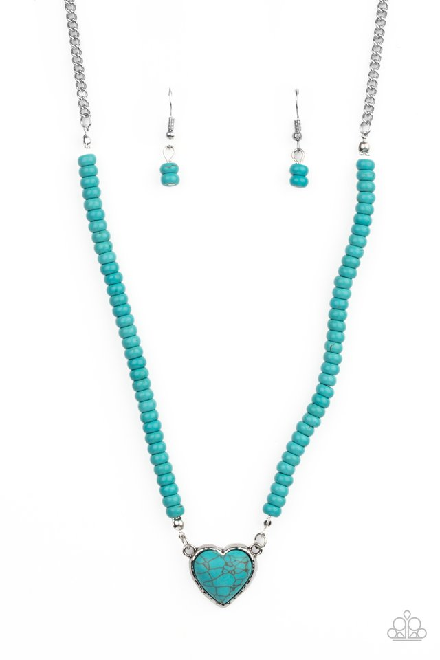 Country Sweetheart - Blue - Paparazzi Necklace Image