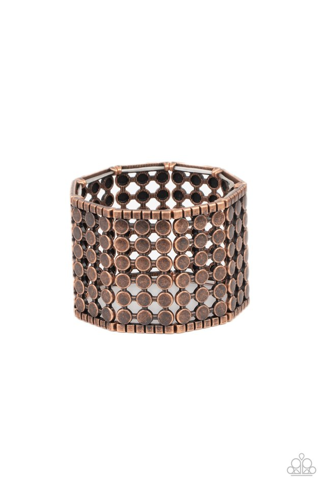 Cool and CONNECTED - Copper - Paparazzi Bracelet Image