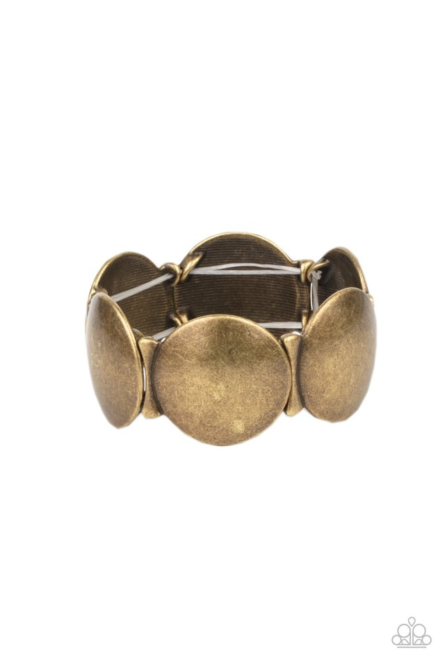 Going, Going, GONG! - Brass - Paparazzi Bracelet Image