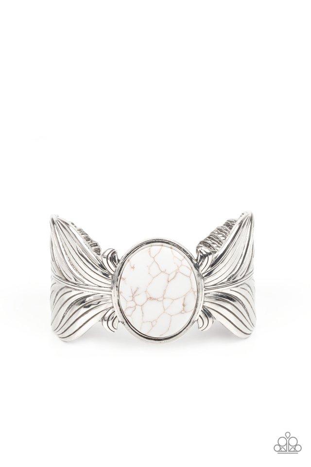 Born to Soar - White - Paparazzi Bracelet Image