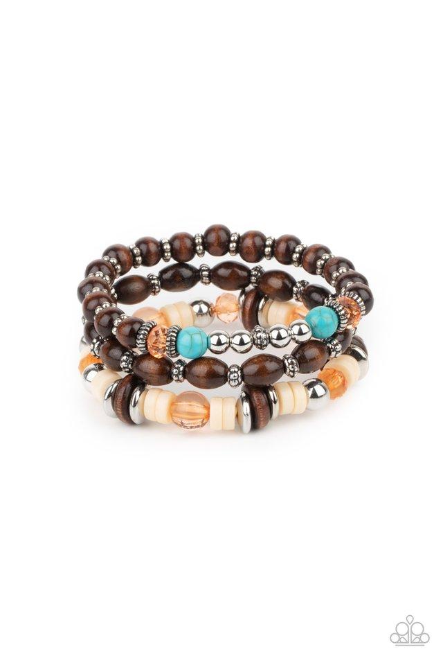 Belongs In The Wild - Orange - Paparazzi Bracelet Image