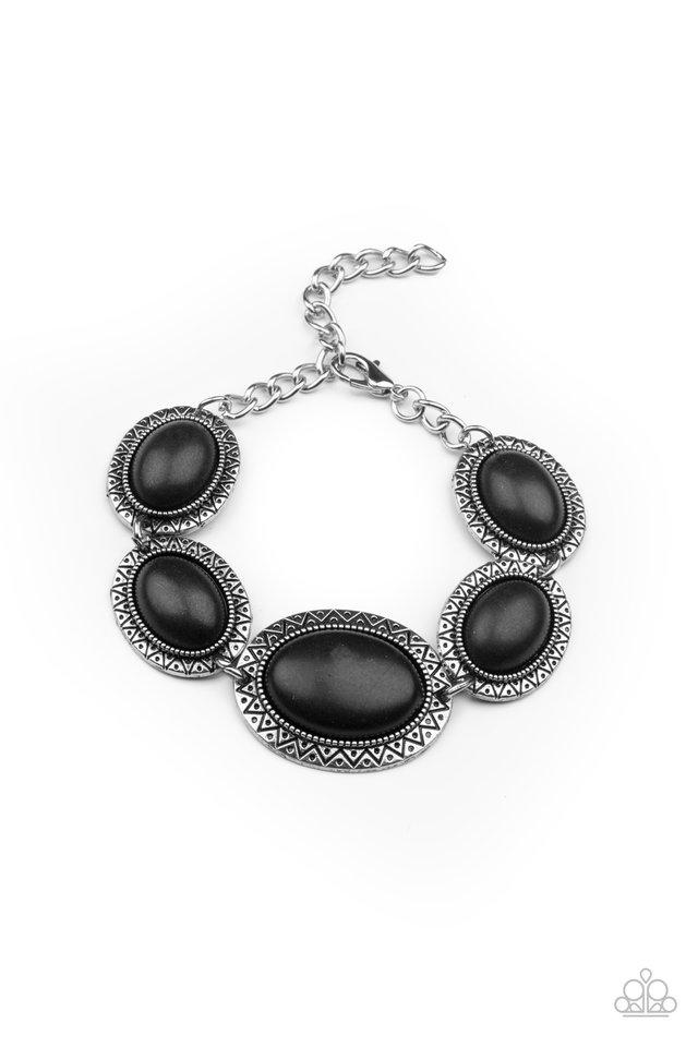MESA Time Zone - Black - Paparazzi Bracelet Image