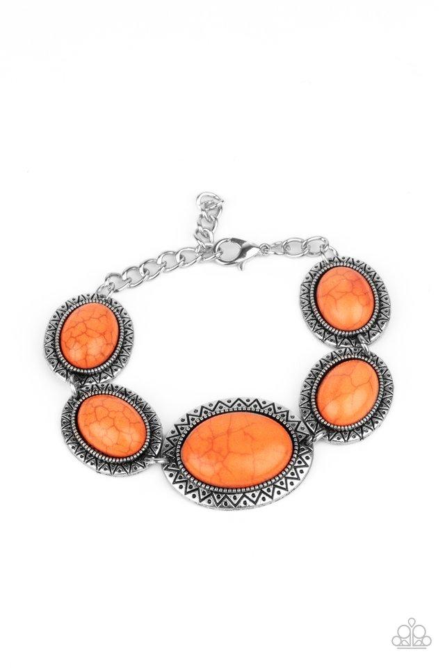 MESA Time Zone - Orange - Paparazzi Bracelet Image