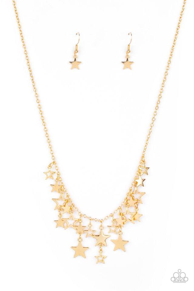 Stellar Stardom - Gold - Paparazzi Necklace Image