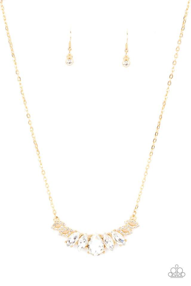 Bride-to-BEAM - Gold - Paparazzi Necklace Image