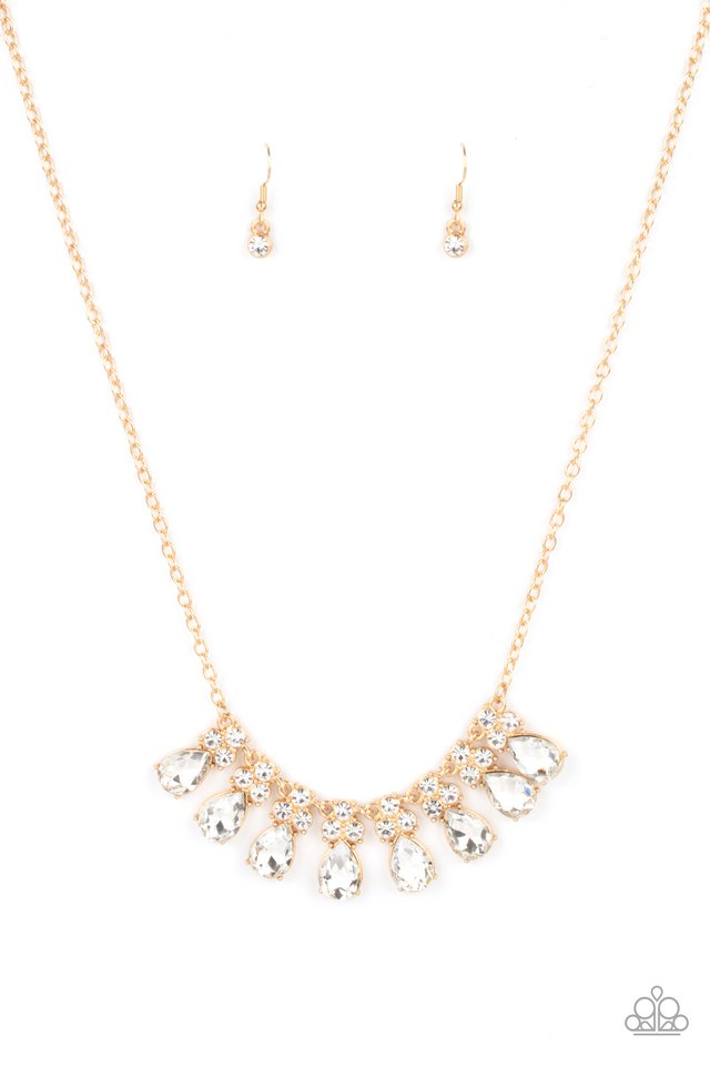 Sparkly Ever After - Gold - Paparazzi Necklace Image