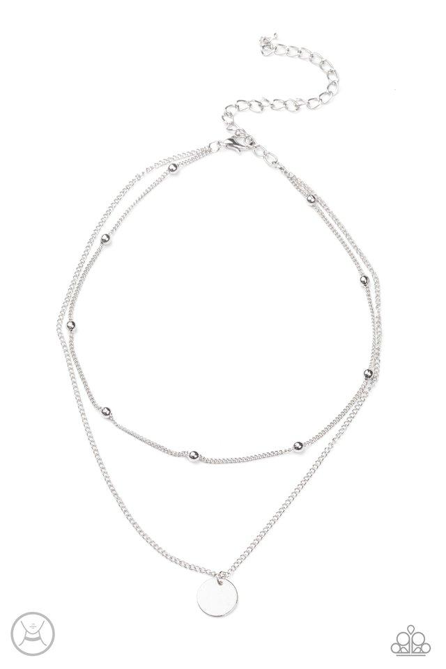 Modestly Minimalist - Silver - Paparazzi Necklace Image