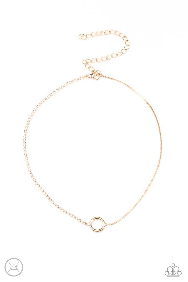 Gotta Split - Gold - Paparazzi Necklace Image