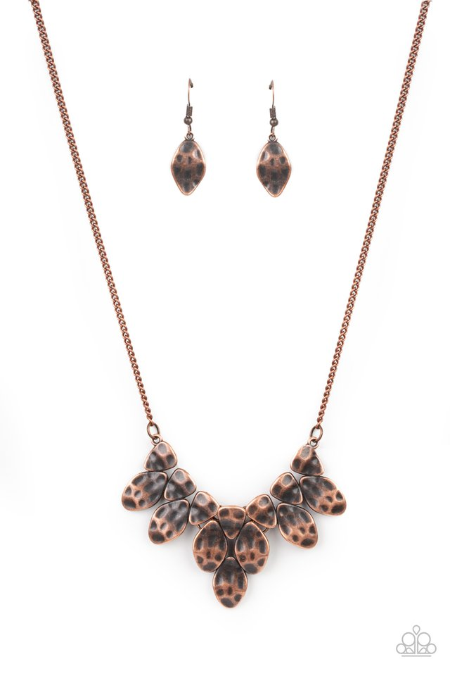 Rustic Smolder - Copper - Paparazzi Necklace Image