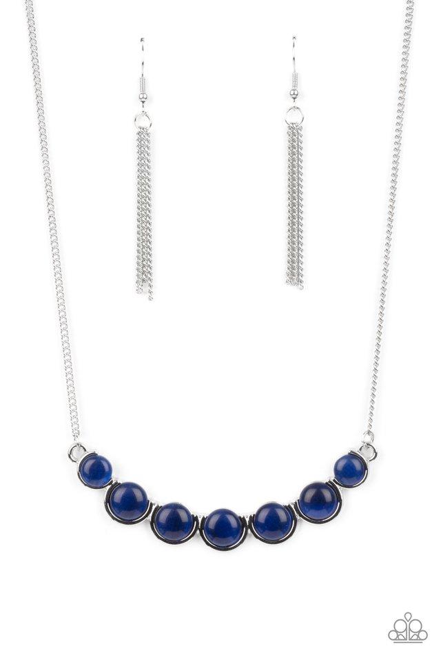 Serenely Scalloped - Blue - Paparazzi Necklace Image