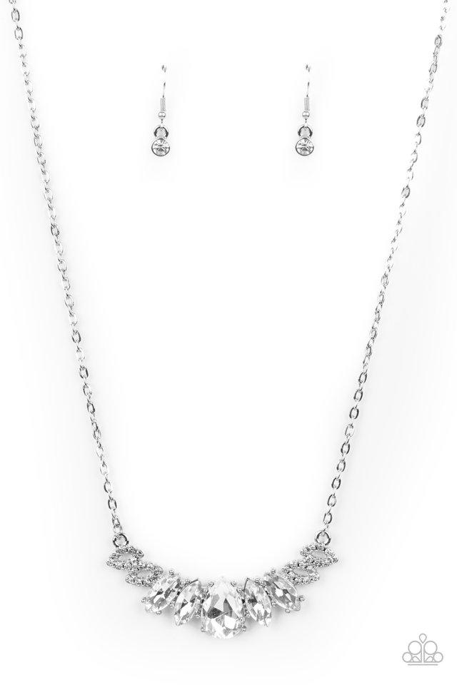Bride-to-BEAM - White - Paparazzi Necklace Image