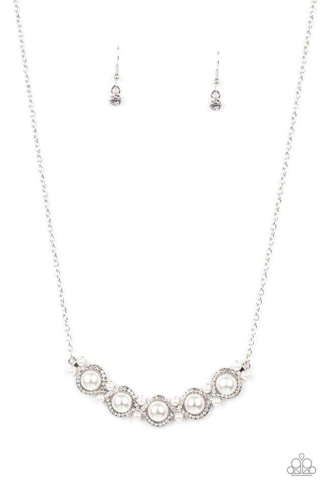 Life of The Wedding Party - White - Paparazzi Necklace Image