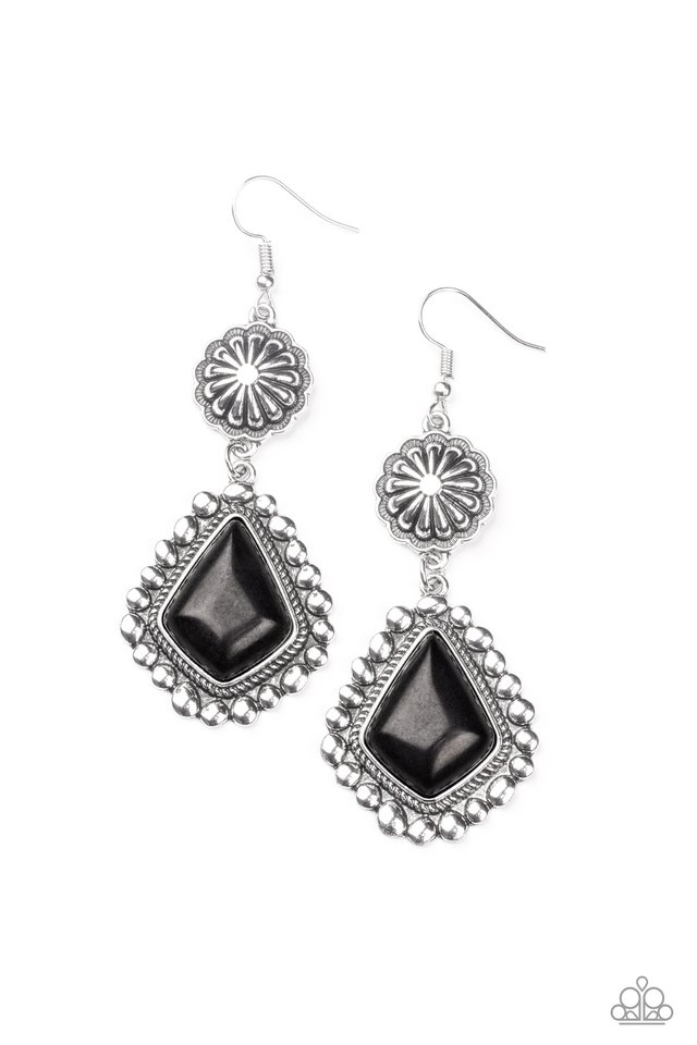 Country Cavalier - Black - Paparazzi Earring Image