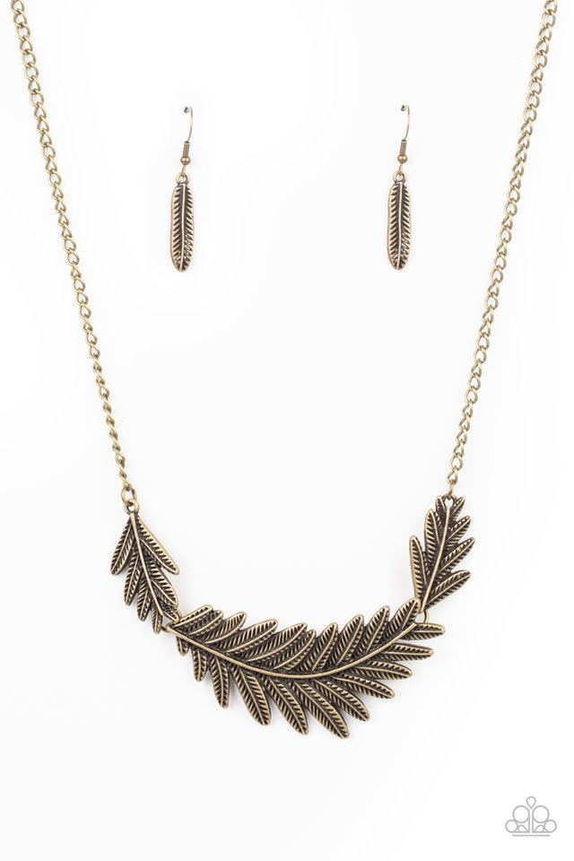 Queen of the QUILL - Brass - Paparazzi Necklace Image