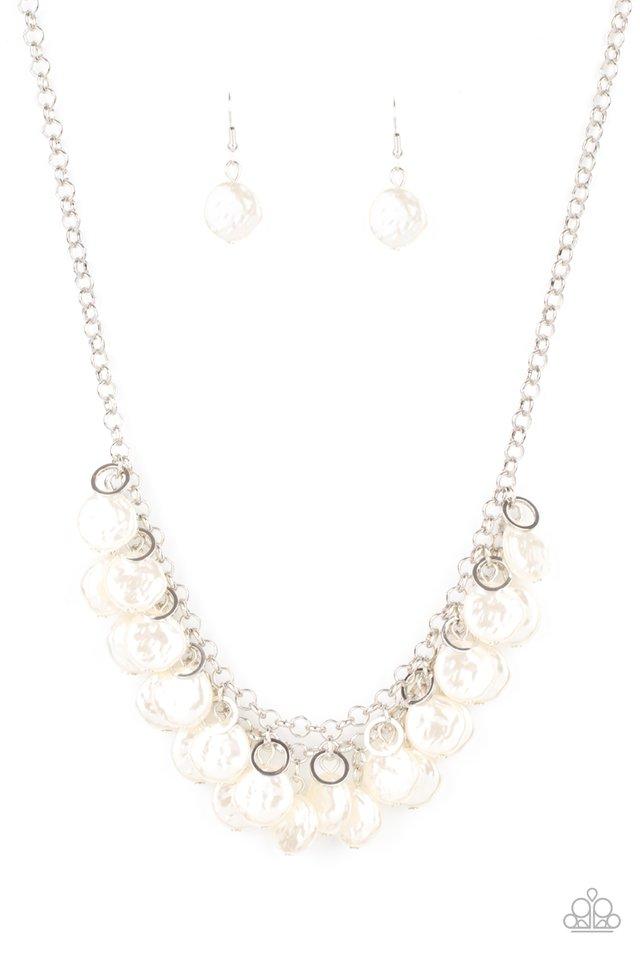 BEACHFRONT and Center - White - Paparazzi Necklace Image