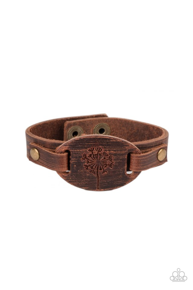 All Fine and DANDELION - Brown - Paparazzi Bracelet Image