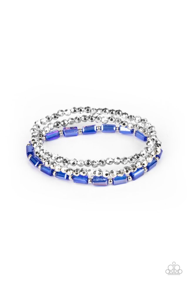 Elegant Essence - Blue - Paparazzi Bracelet Image