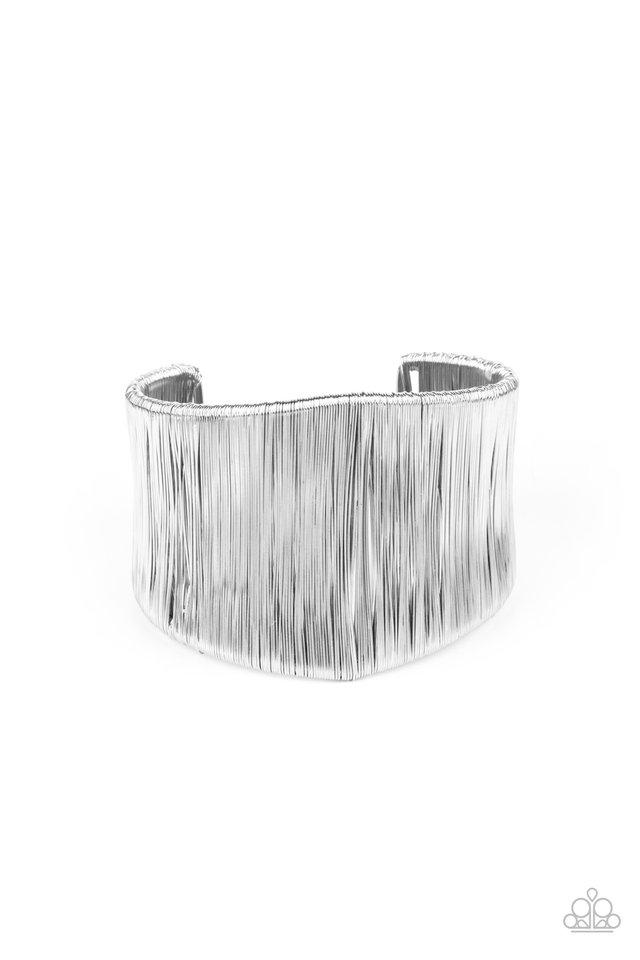 Hot Wired Wonder - Silver - Paparazzi Bracelet Image