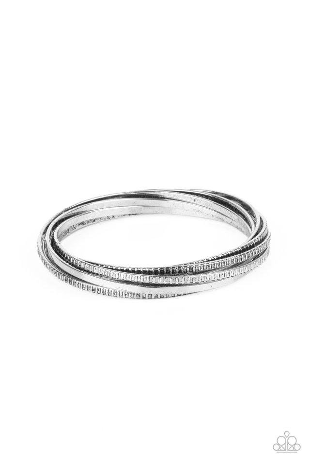 Trending in Tread - Silver - Paparazzi Bracelet Image