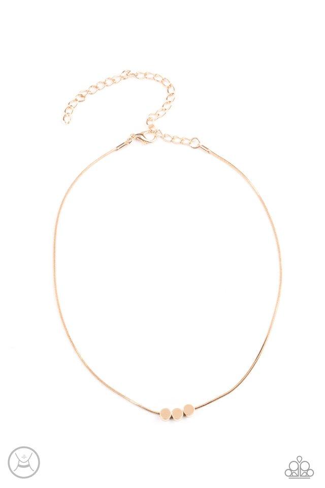 Dynamically Dainty - Gold - Paparazzi Necklace Image